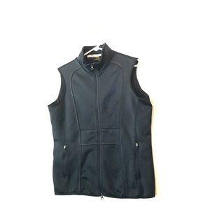 Athleta Fleece Black Zip Vest